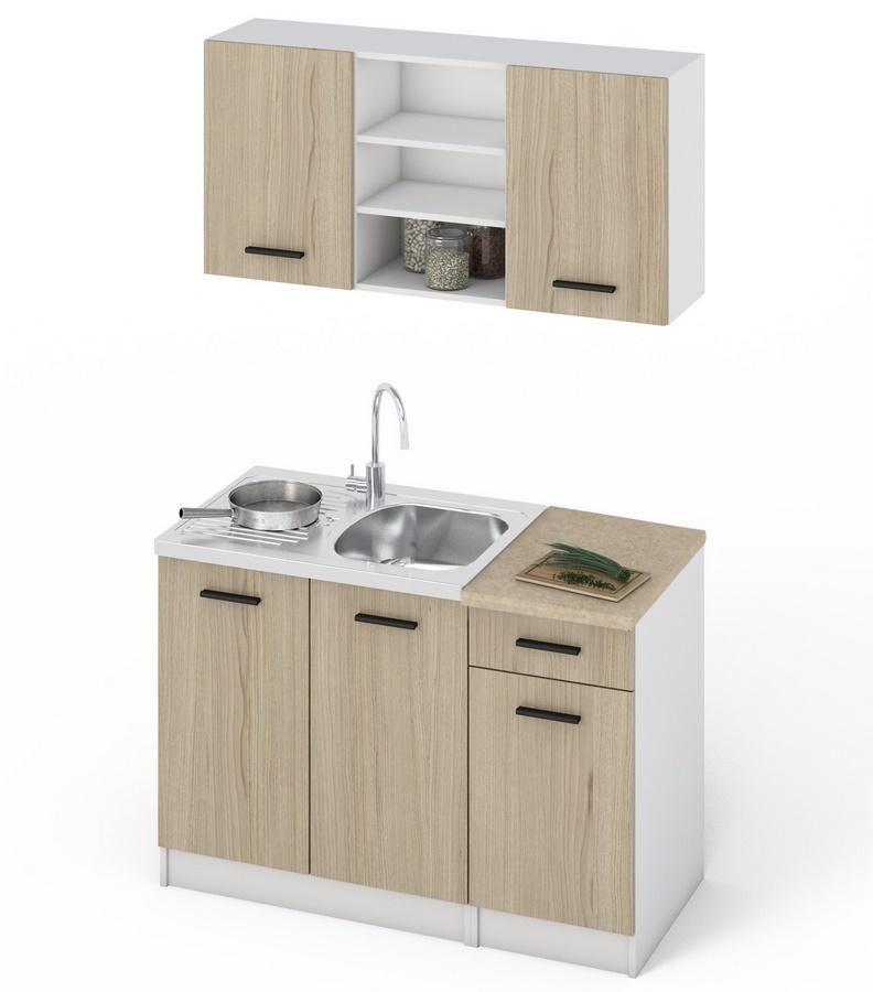 Kuchyně JANA, 120 dub sonoma/bílá