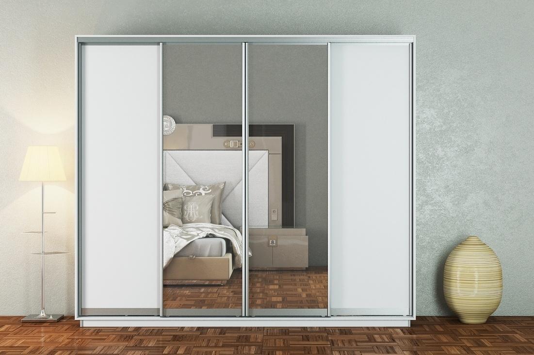 Skříň s posuvnými dveřmi MAGNA 280 cm, bílá
