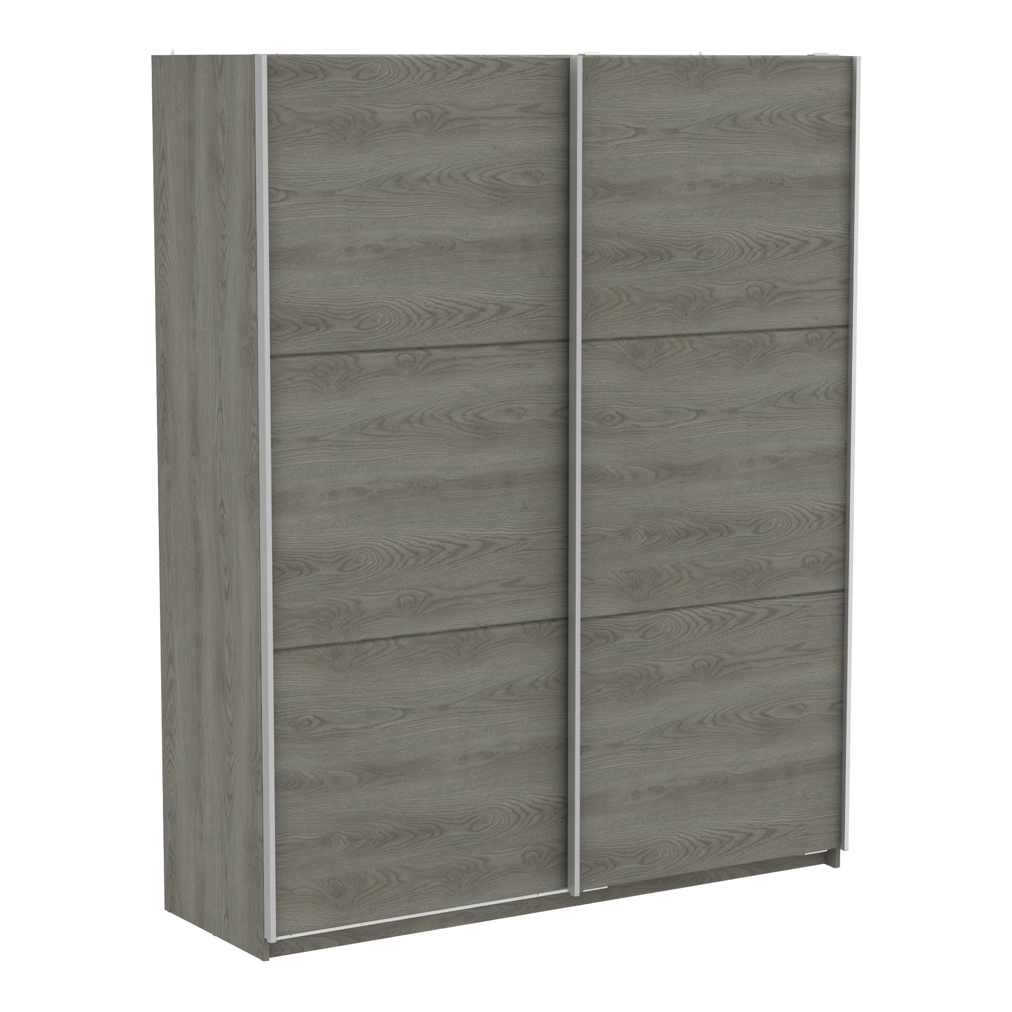 Kombinovaná šatní skříň s posuvnými dveřmi ALHAMBRA 180, dub šedý
