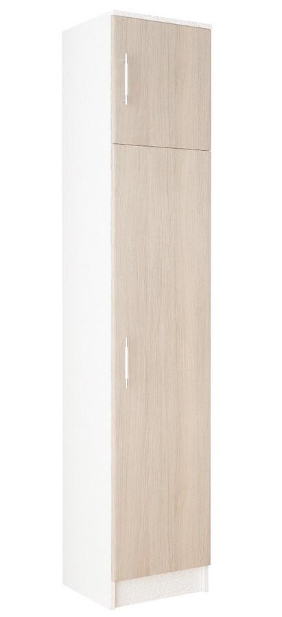 Skříň MÁŠENKA WK-101, bílá/dub sonoma