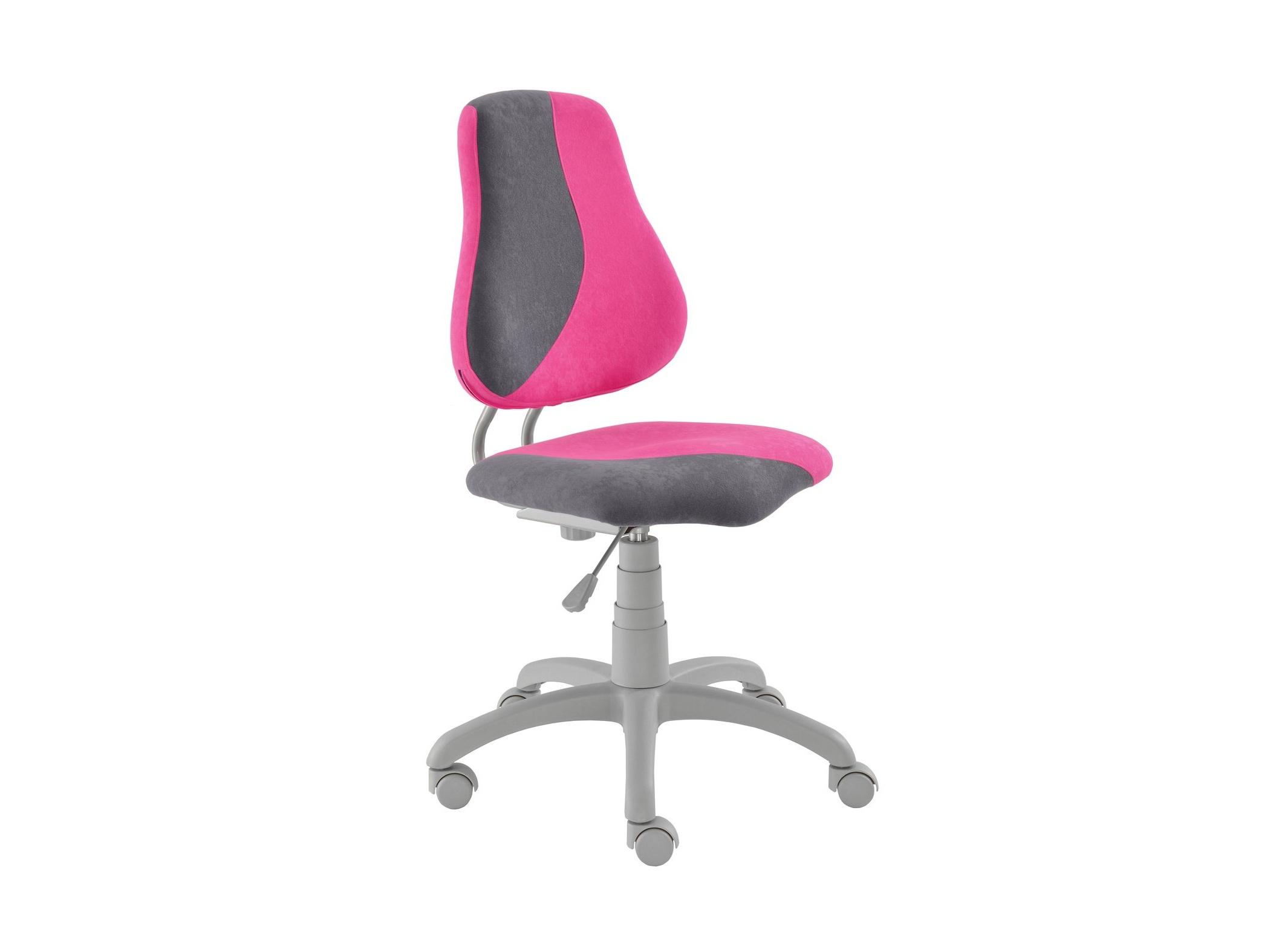 Dětská židle FUXO S, růžová/šedá