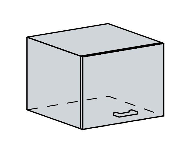 VALERIA, skříňka nad digestoř 50 VP, wenge/bílý lesk