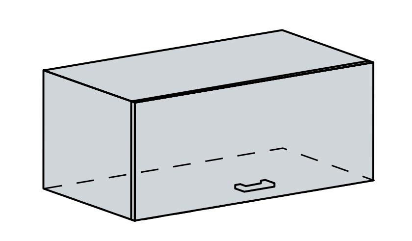 VERONA, skříňka nad digestoř 80 VP, bílá/zlatý jasan