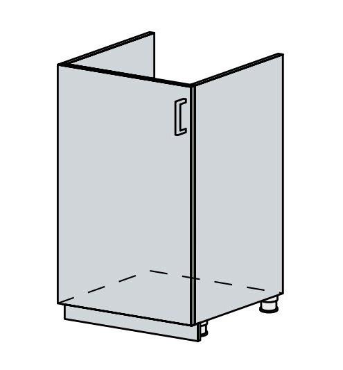 NEWPORT, dolní dřezová skříňka 50 DZ, bílá/zlatý jasan