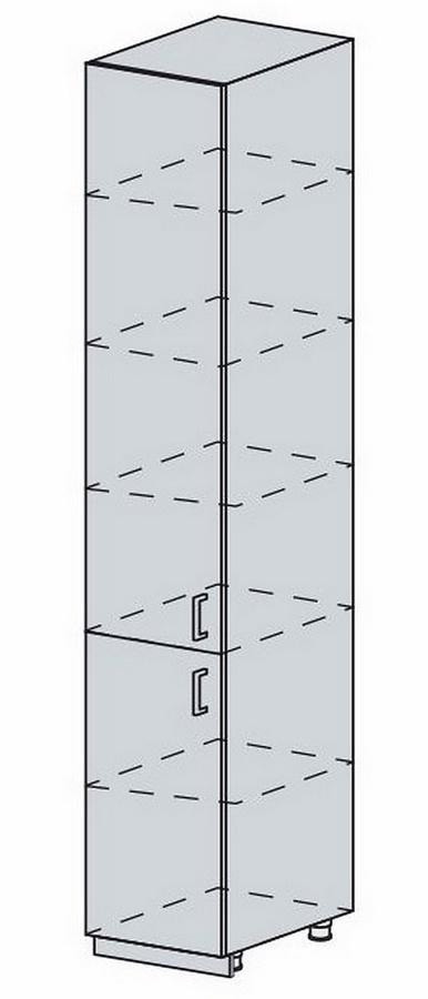 VERONA, potravinová skříň 40 PV, bílá/zlatý jasan