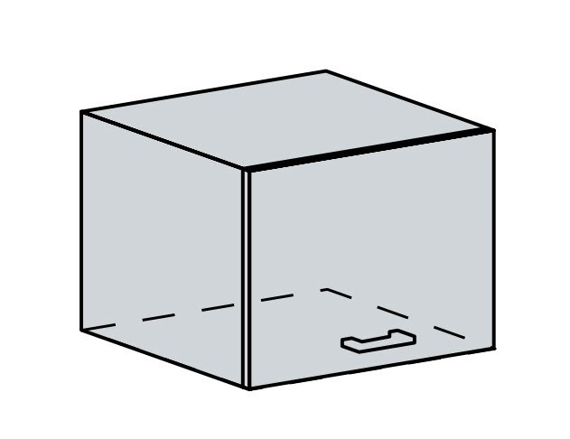 ANASTASIA, skříňka nad digestoř 50 VP, bílá/bříza