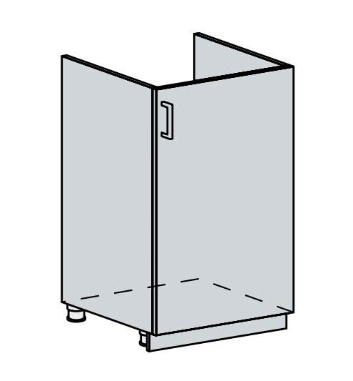 FRANASTA, dolní dřezová skříňka 50 DZ, bílá/bříza