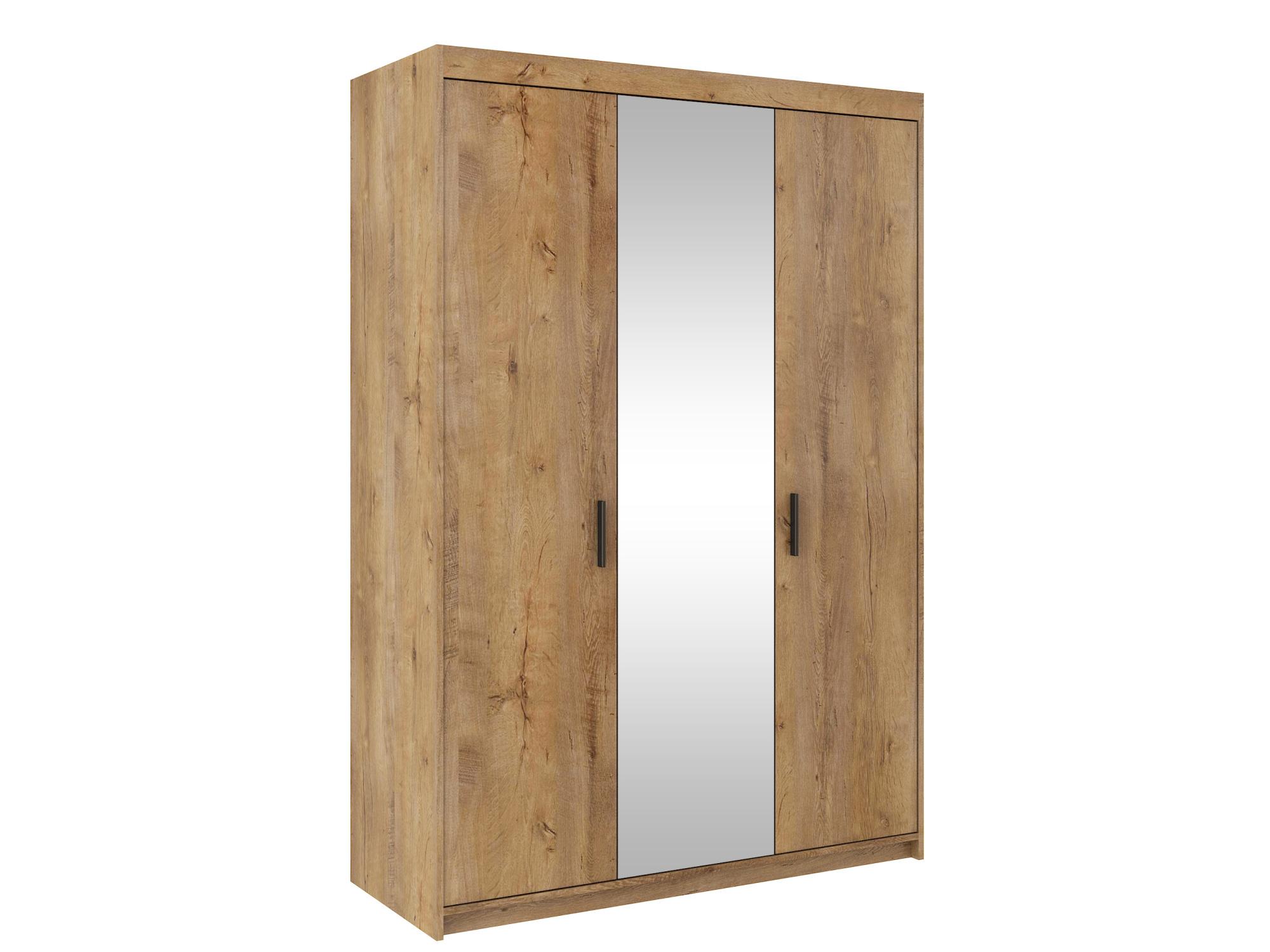 Skříň TEKEN 3D se zrcadlem, dub lefkas