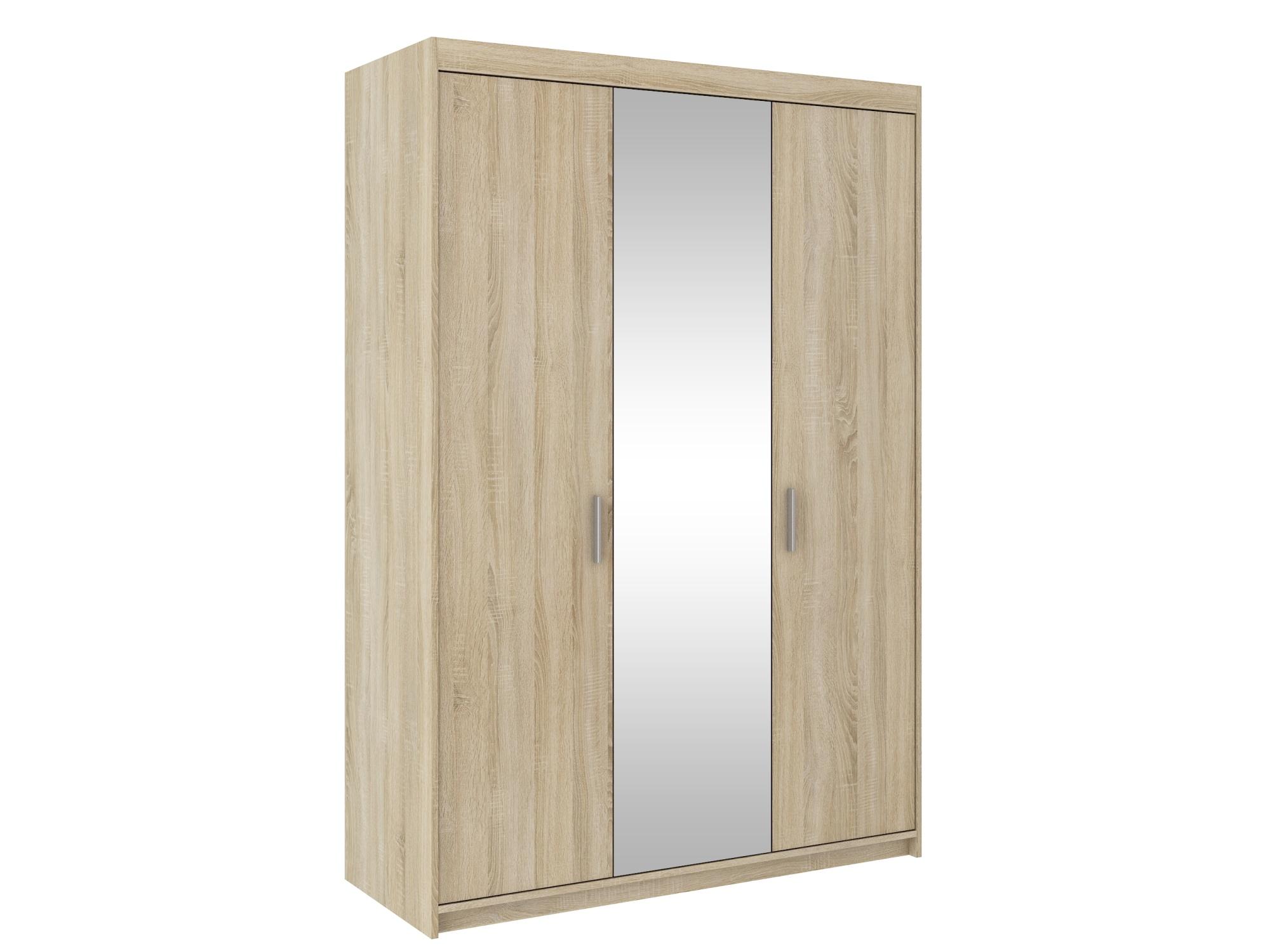 Skříň TEKEN 3D se zrcadlem, dub sonoma
