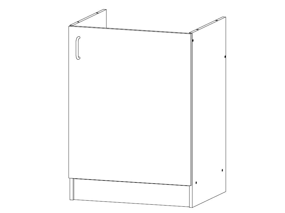 RELLA, dolní dřezová skříňka D60Z-P pravá, borovice andersen