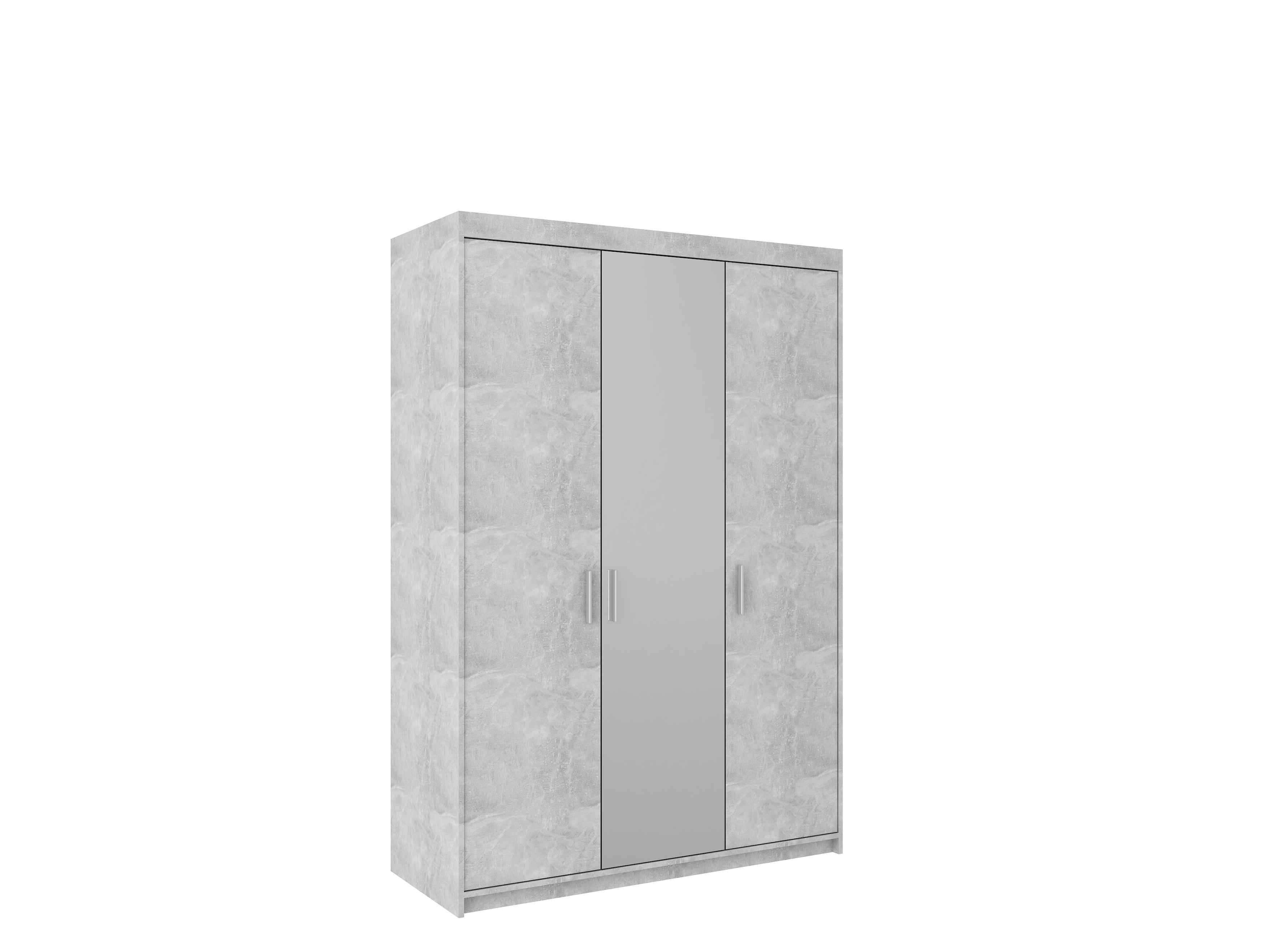 Skříň TEKEN 3D se zrcadlem, beton