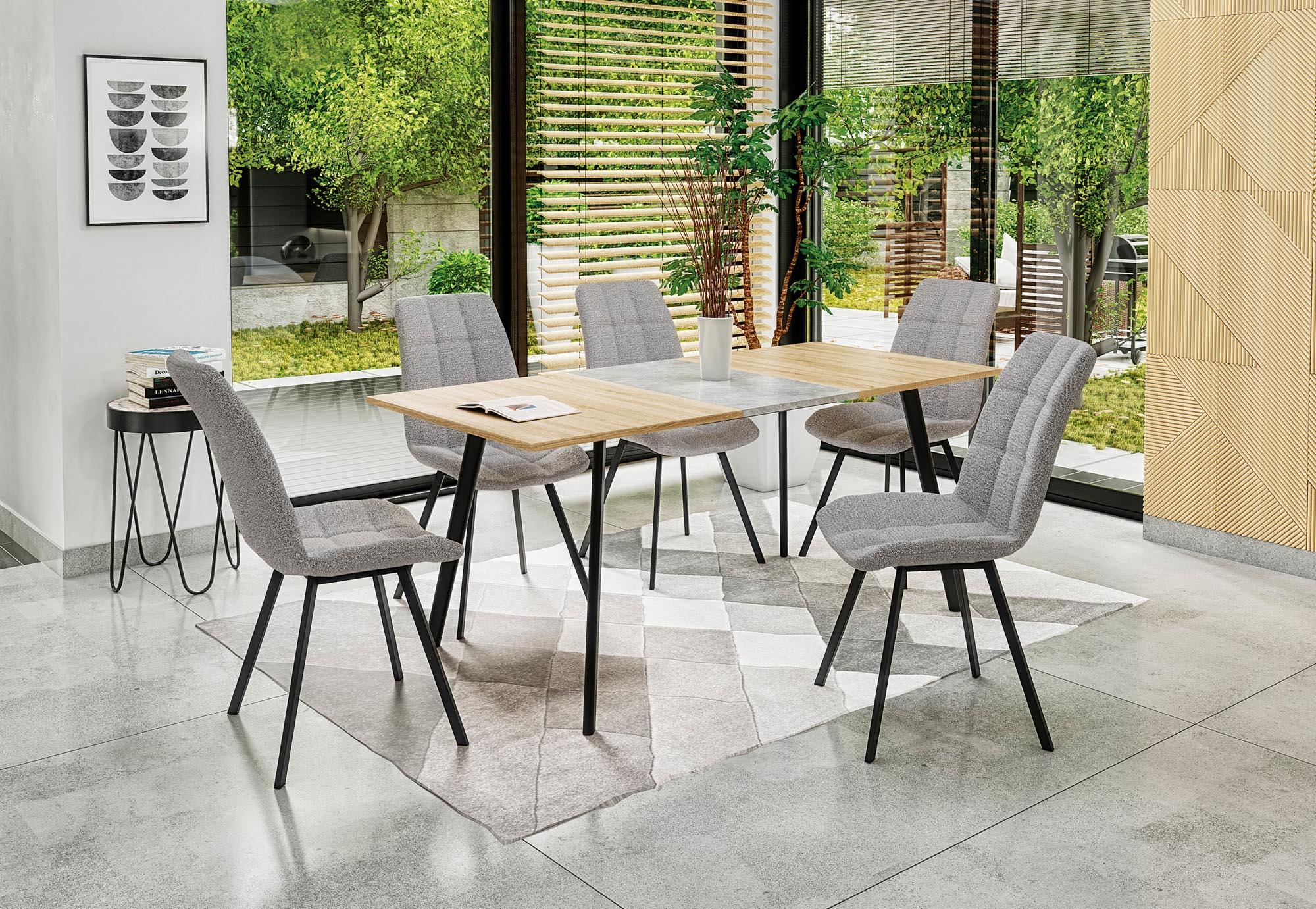 Rozkládací jídelní stůl TAMALE, dub sonoma/šedá
