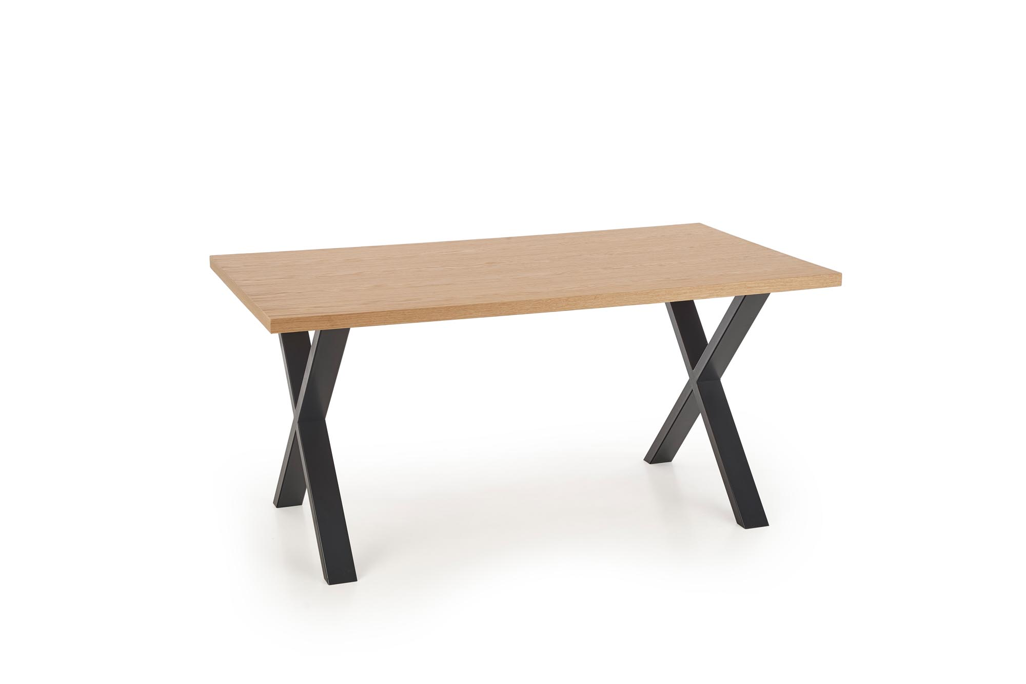 Jídelní stůl APEX 160/90 MDF, dub přírodní/černá