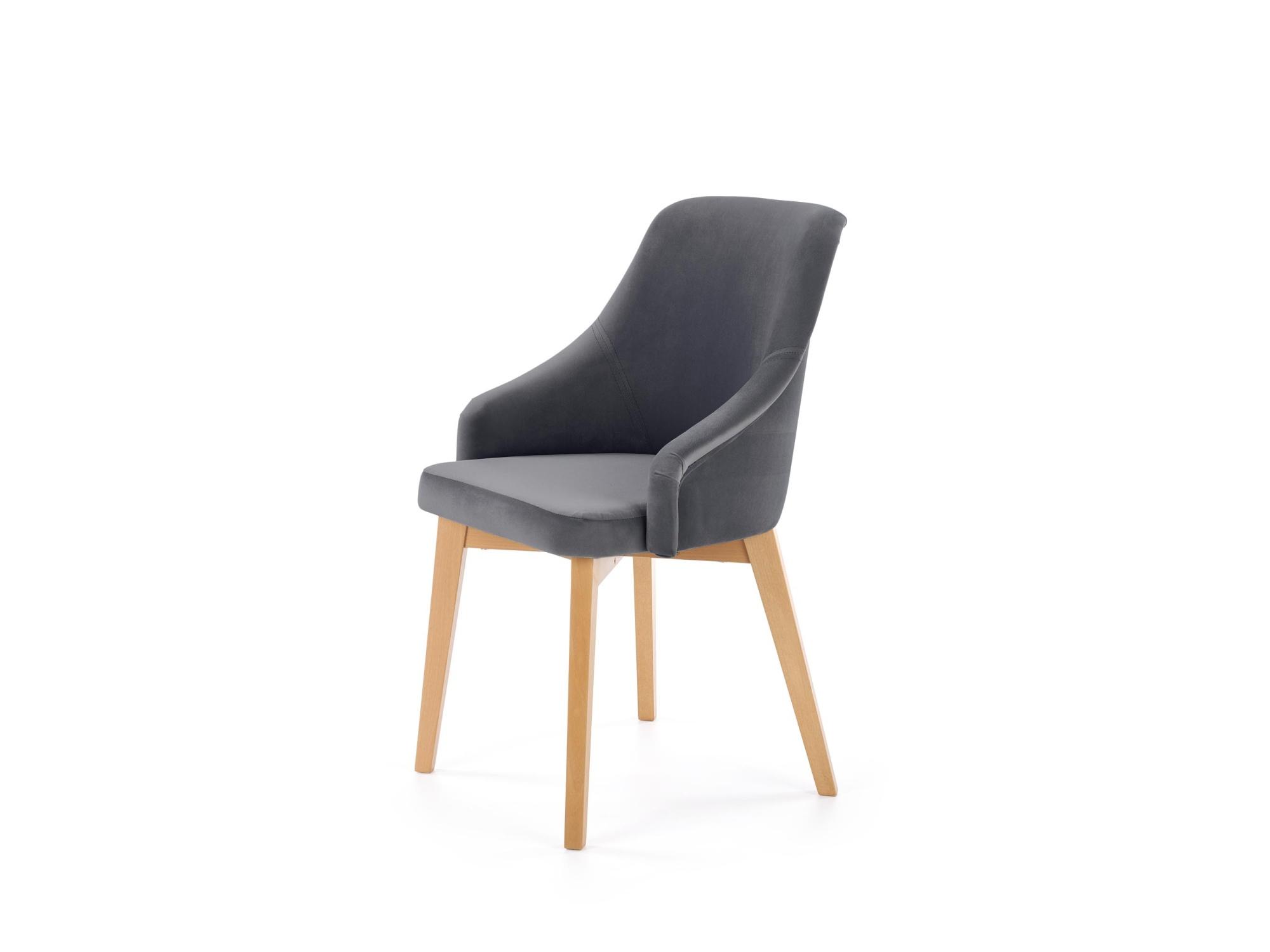 Levně Jídelní židle TOLEDO 2, tmavě šedá/dub medový