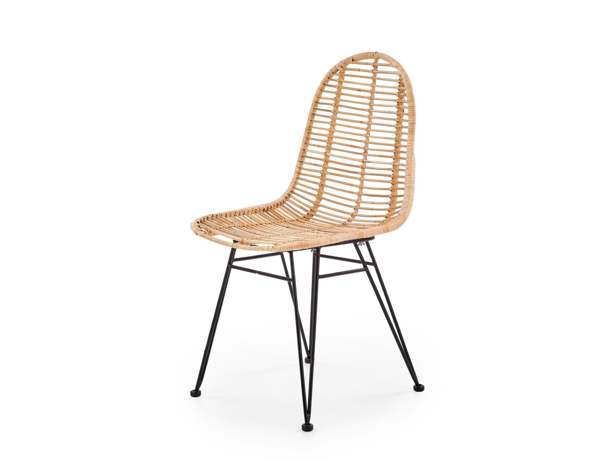 Ratanová jídelní židle K-337, přírodní