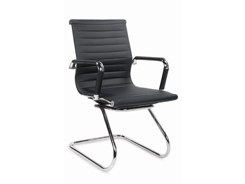 Jednací židle ADK Deluxe Skid, černá ekokůže