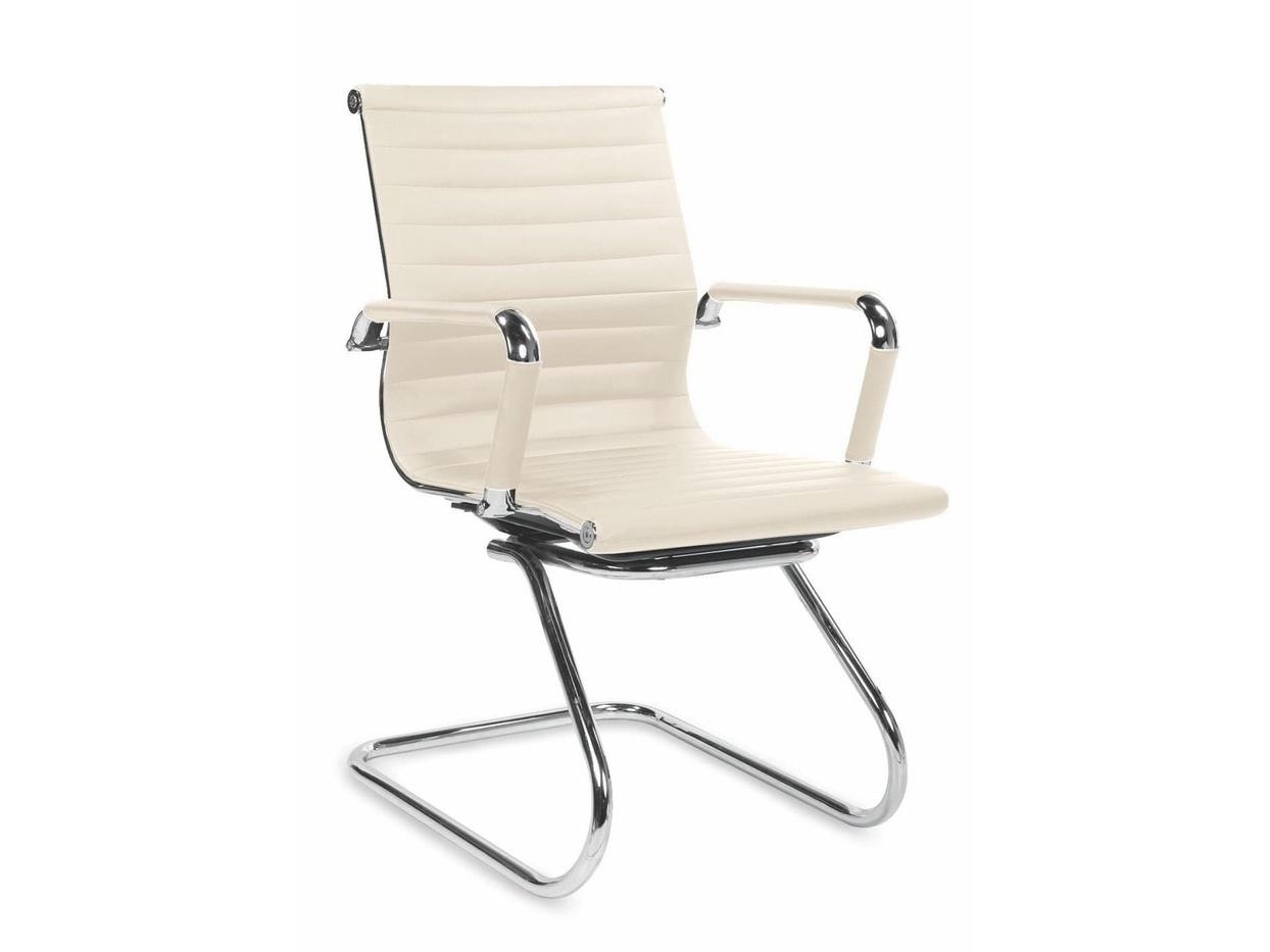 Jednací židle ADK Deluxe Skid, béžová ekokůže