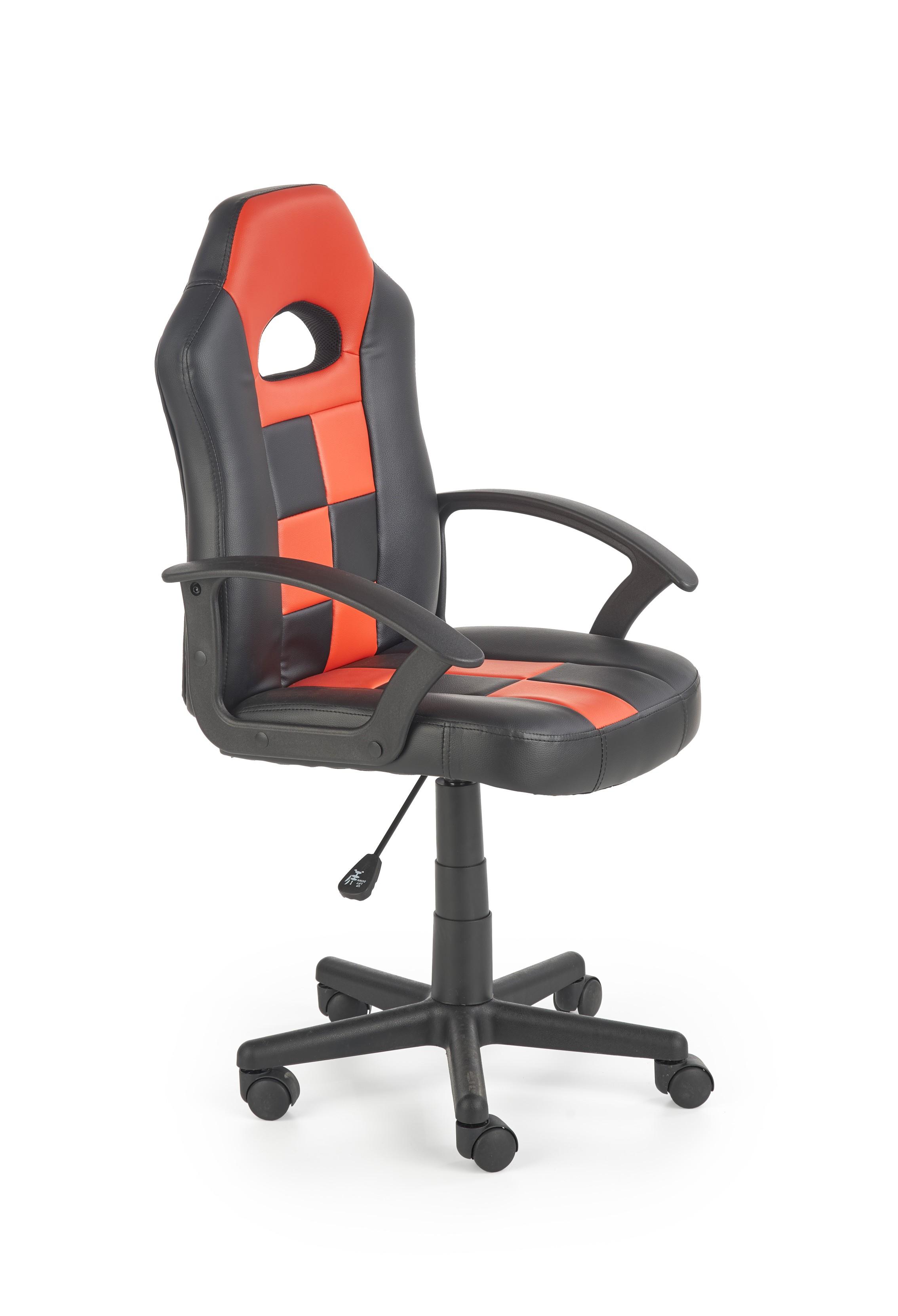 Dětská kancelářská židle STORM, černo-červená