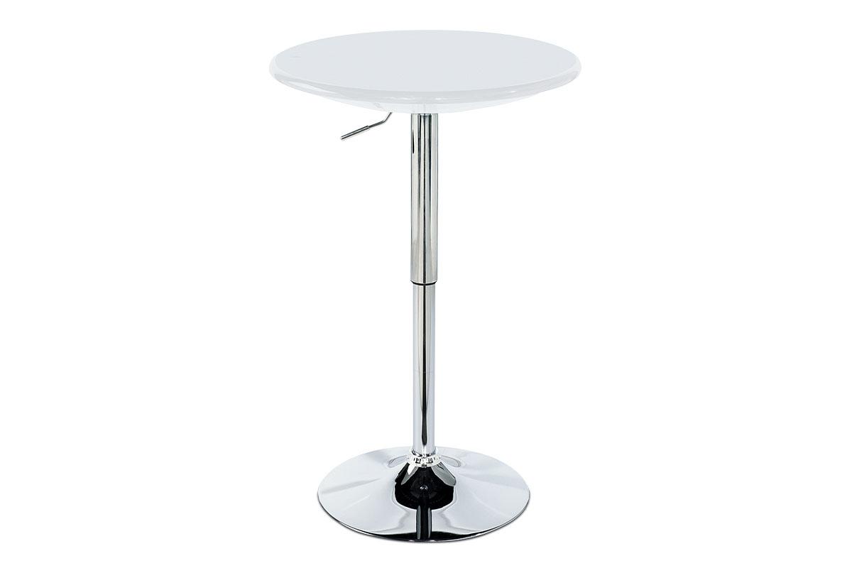 (AUB-5010 WT) Barový stůl, bílá / chrom AUB-4010 WT