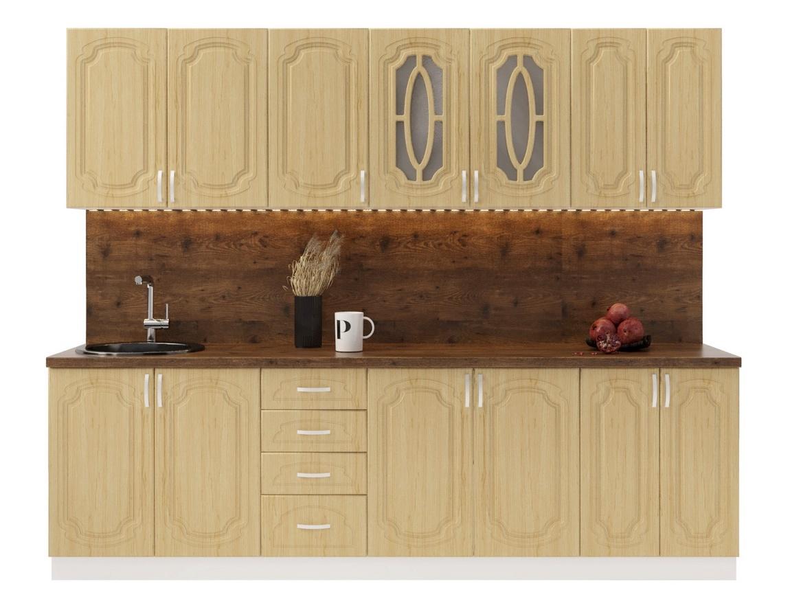 Kuchyně ANASTASIA 260 cm, bílá/bříza
