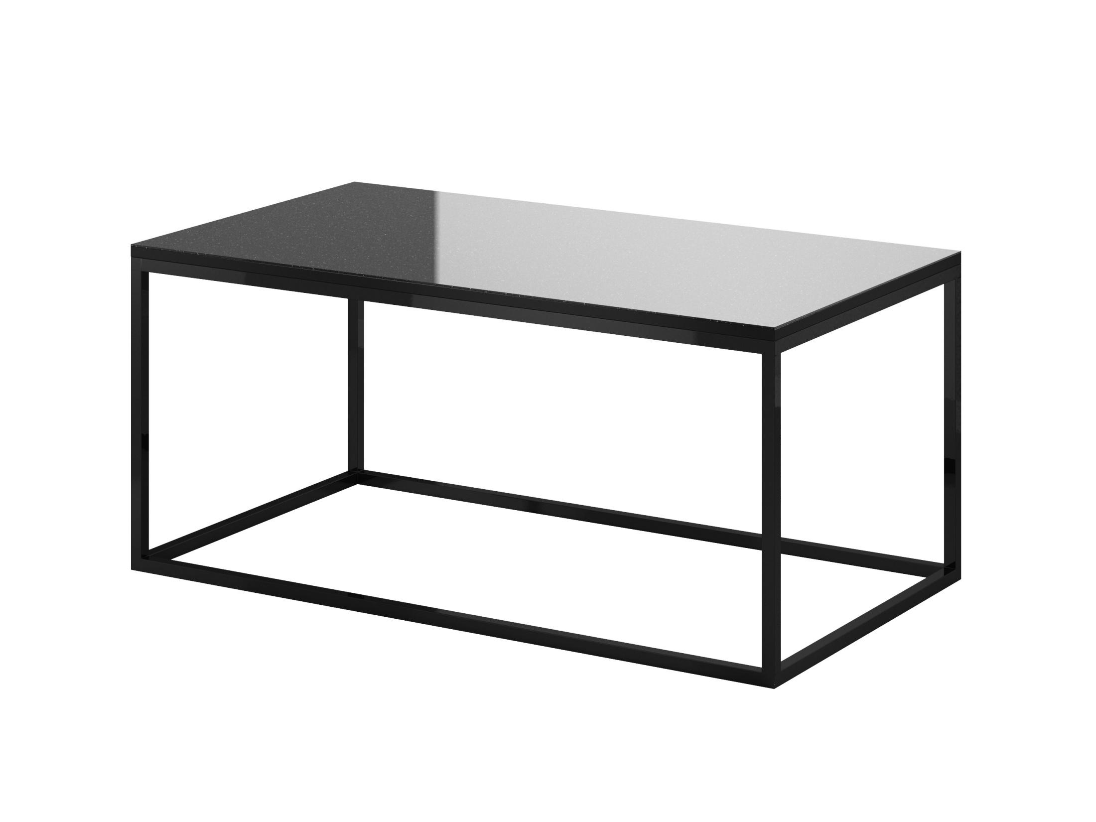 DEJEON konferenční stolek, černá/černé sklo