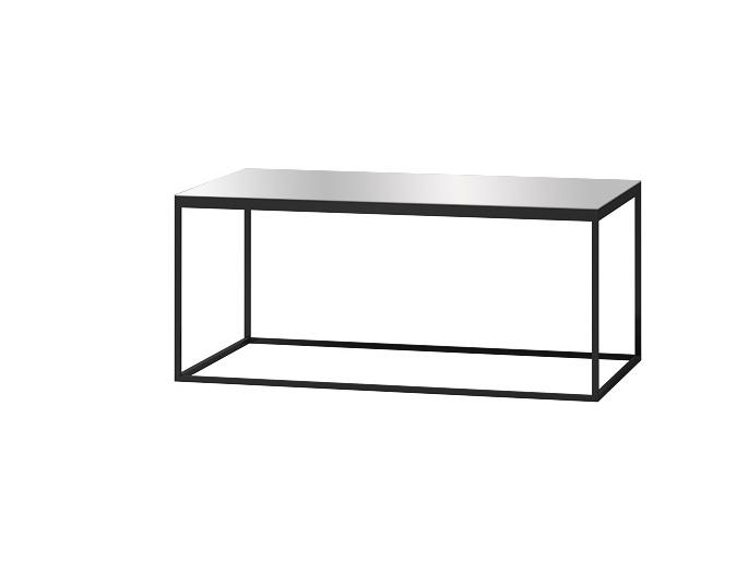 DEJEON konferenční stolek, černá/šedé sklo