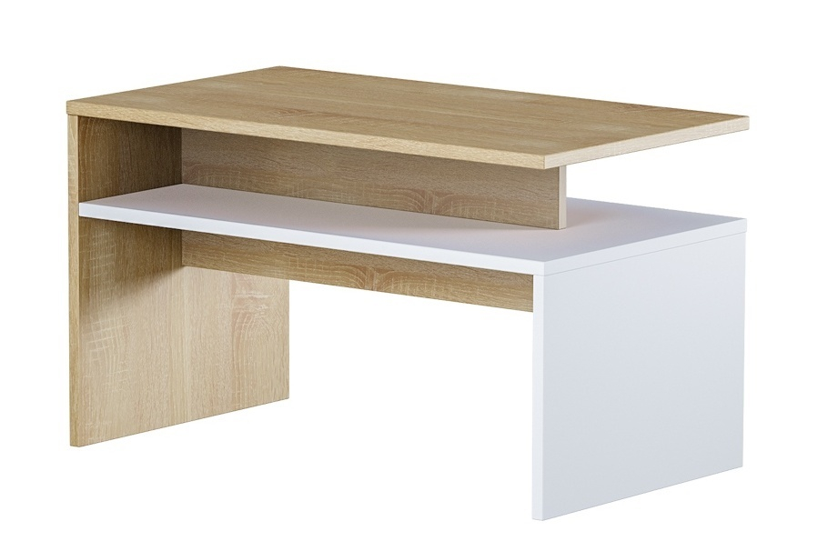 Konferenční stolek OPIK, dub sonoma/bílá