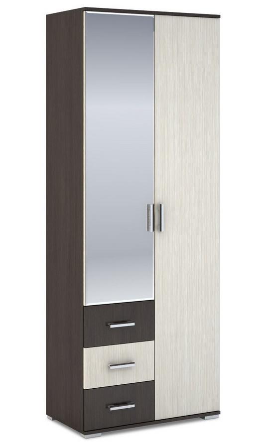 Šatní skříň 2-dveřová ROCHEL 58 cm dub belfort (ROCHEL SK812-D2 SKŘÍŇ 2D3S+ZRC.58 dub belfort)