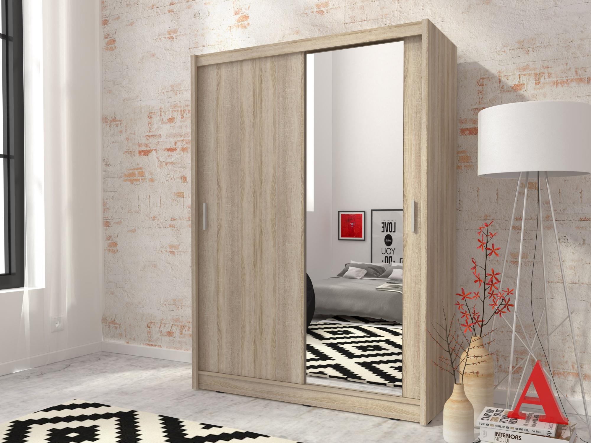 Kombinovaná skříň CONCINNA 1 se zrcadlem 150, dub sonoma
