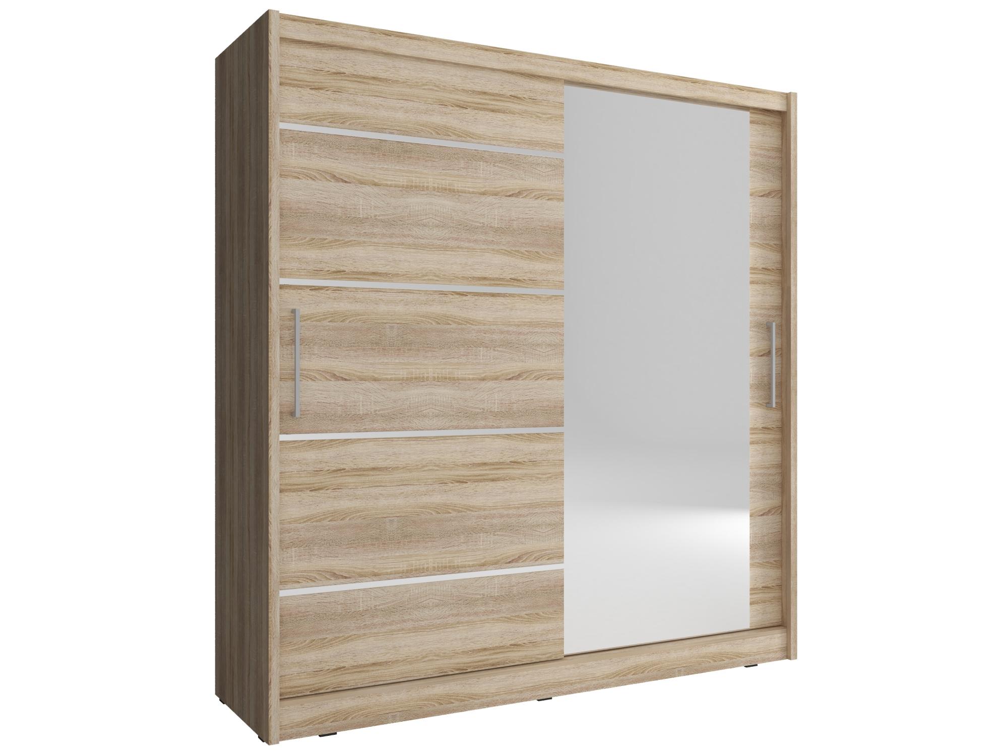 Kombinovaná skříň CONCINNA 1 ALU se zrcadlem 200, dub sonoma