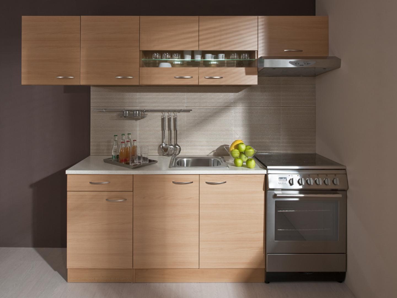Kuchyně NELA 150/260 cm, buk Z EXPOZICE PRODEJNY použité zboží